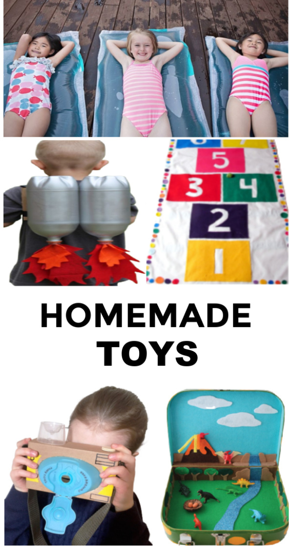 Got bored kids?  Give these homemade toys a try! #homemadetoys #toysforkids #toysyoucanmakeforkids #diytoys #growingajeweledrose