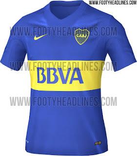 gambar detail terbaru musim depan bocoran Jersey Boca Juniors home terbaru musim depan 2015/2016 di enkosa sport