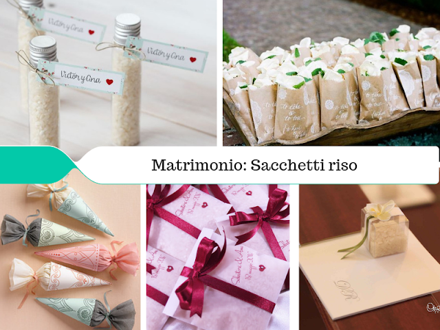 matrimonio idee per sacchetti porta riso handmade