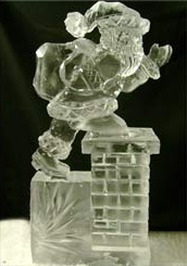 My ice sculpture of Daddy might have looked something like this one from Ice Visions, before it melted. :(