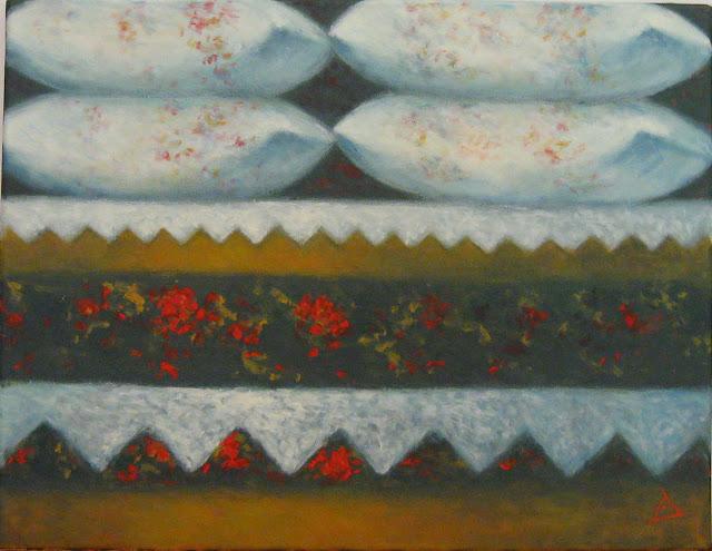Dana Dragomir - Zestrea - pictura acrilic pe panza 50x40cm