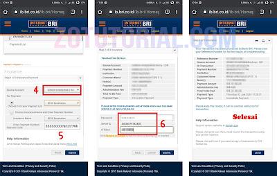 Bayar Asuransi BPJS via Internet Banking BRI