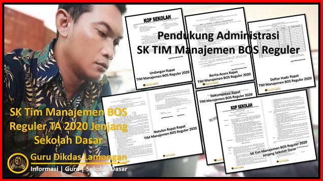 SK Tim Manajemen BOS Reguler TA 2020 Jenjang Sekolah Dasar