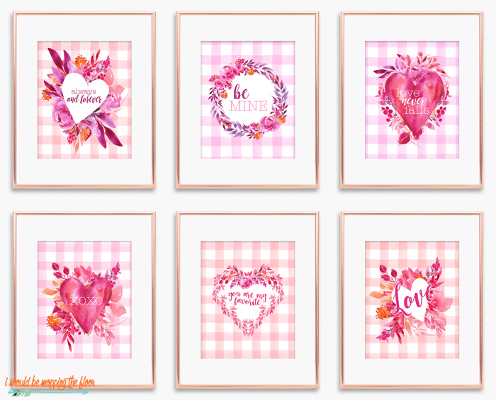 Watercolor Valentine Printables