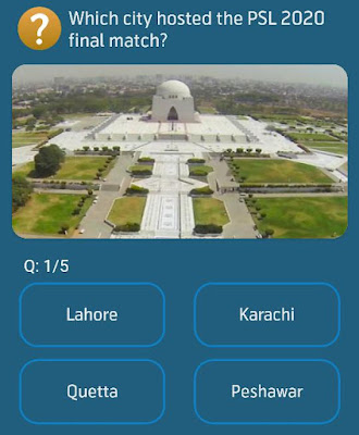 Which city hosted the PSL 2020 final match?