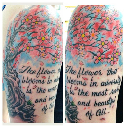Cherry Blossom Tattoo Quotes