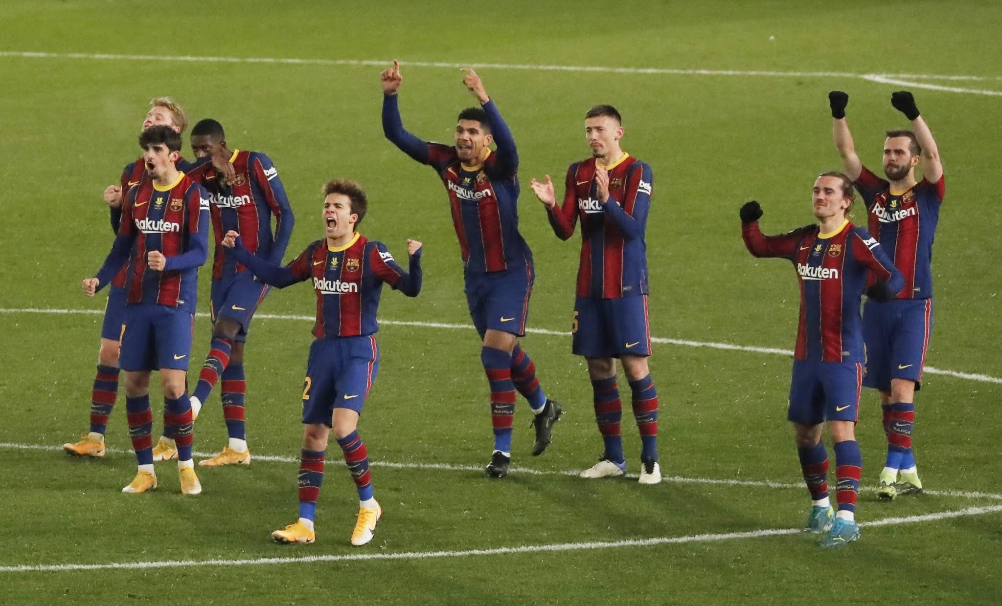 Barcelona, sin Messi, se clasifica por penales a la final de la Supercopa de España