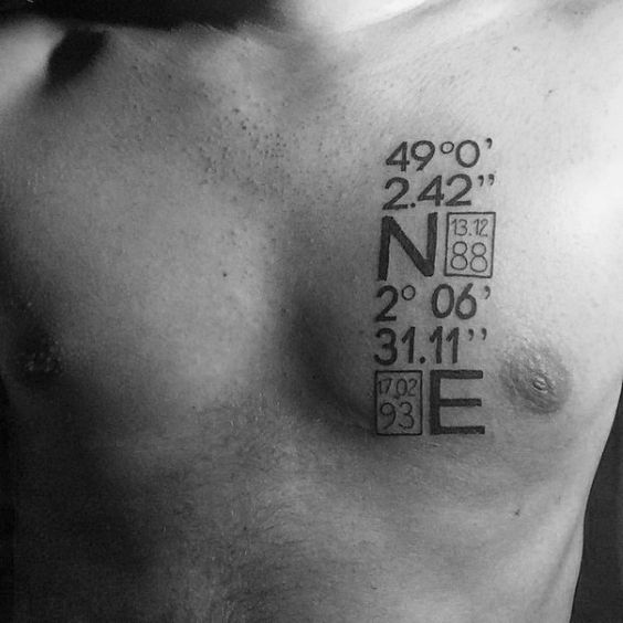 Small Chest Tattoos For Men