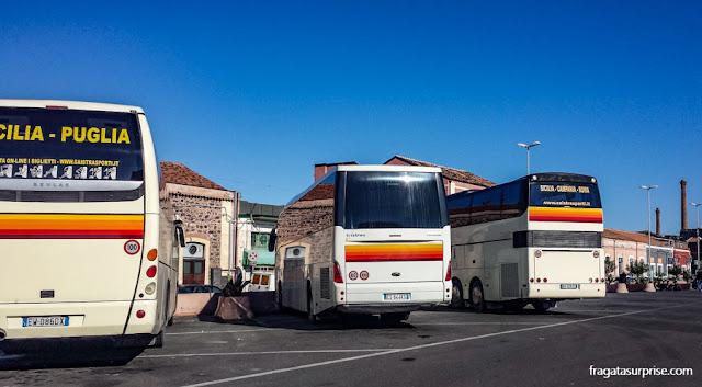 Sicília - ônibus de Catânia a Agrigento
