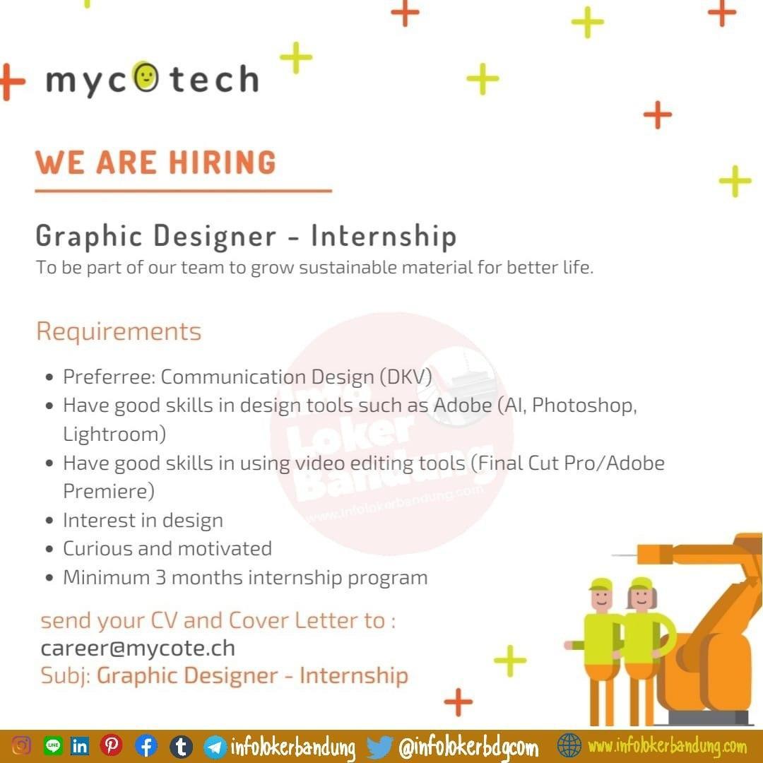 Lowongan Kerja Graphic Deigsner - Internship Mycotech Bandung Maret 2020