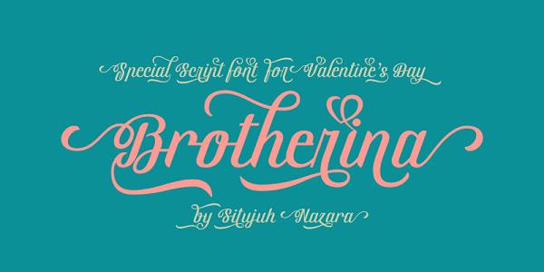 Download Font Edisi Februari 2017 - Brotherina Font