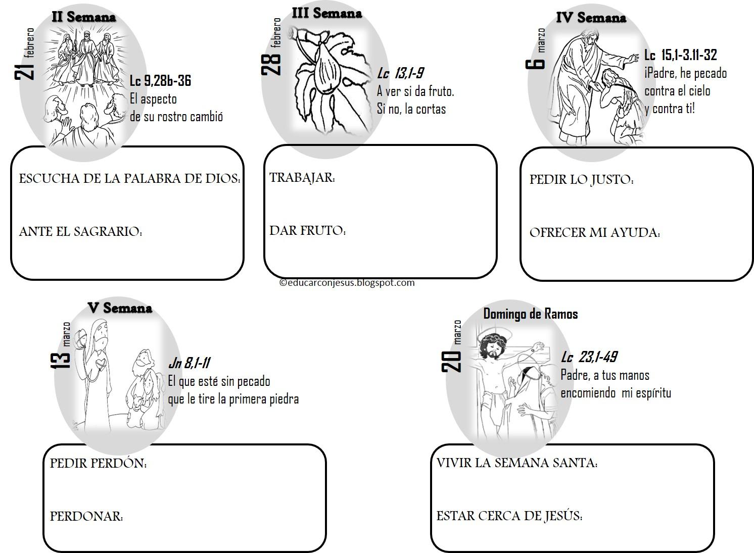La Catequesis El Blog De Sandra Calendarios Y Caminos Cuaresma Ciclo C