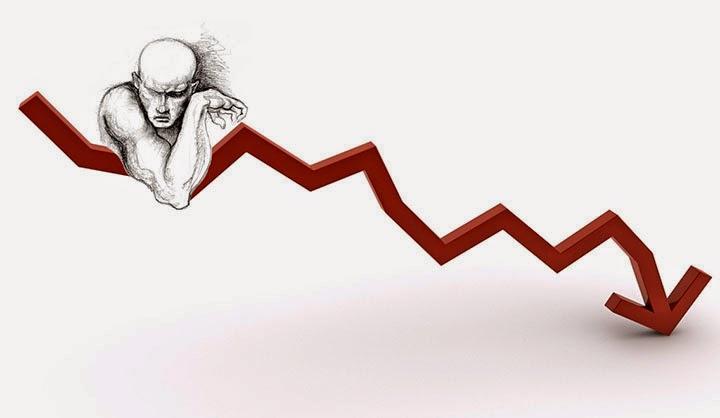 фігура людина на червоній діаграмі