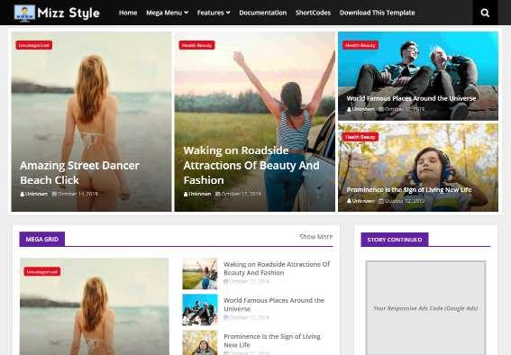 Blogger Template Mizz Style