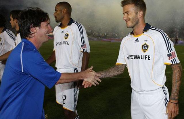 Messi dan David Beckham