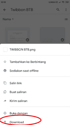 Download file twibbon dengan cara klik download