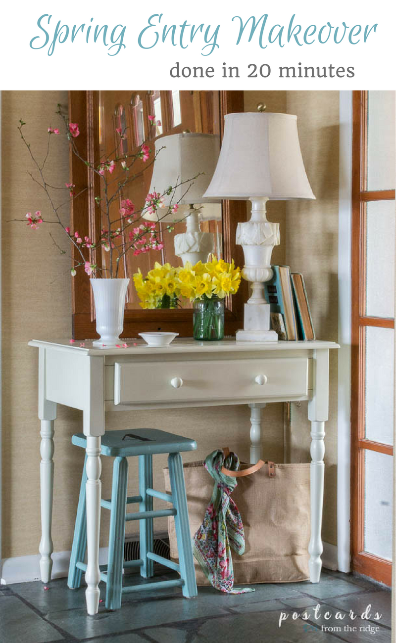 simple spring farmhouse style makeover