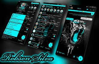 Neon Tiger Black Theme For YOWhatsApp & Fouad WhatsApp By Robsson