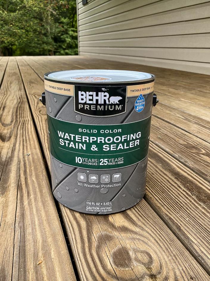 waterproof deck stain and sealer