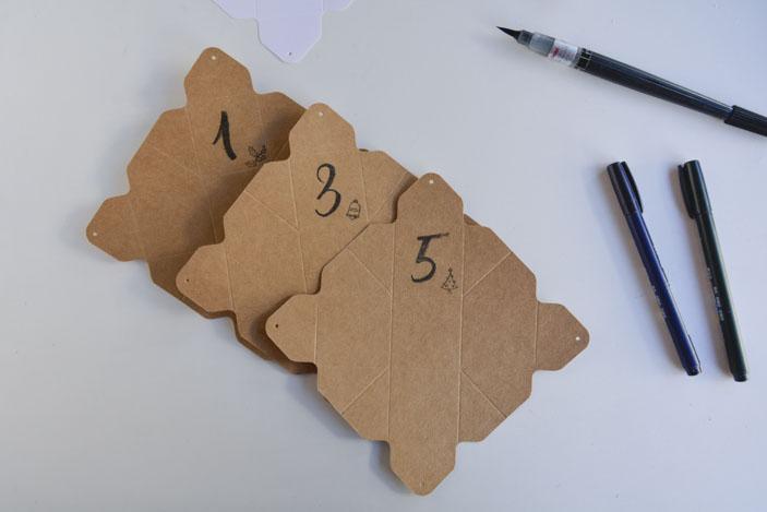 Cajas numeradas