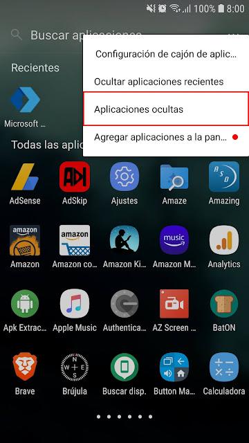 ocultar aplicaciones de android