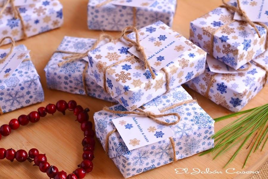 Regalos para la Navidad jabones naturales hechos a mano