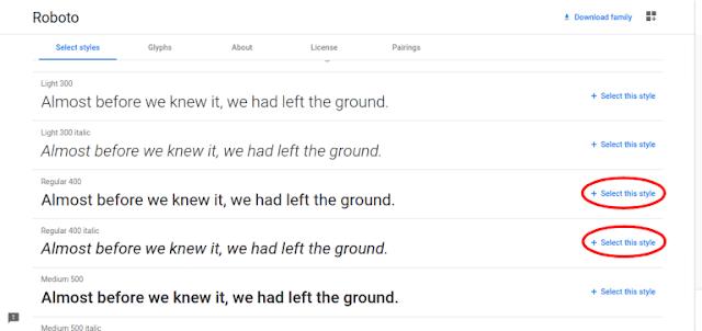 memilih-style-font-di-google-fonts