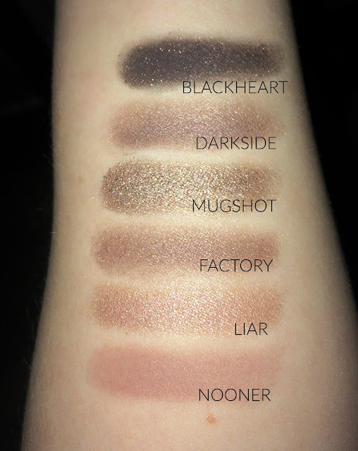 naked 3 eyeshadow swatches