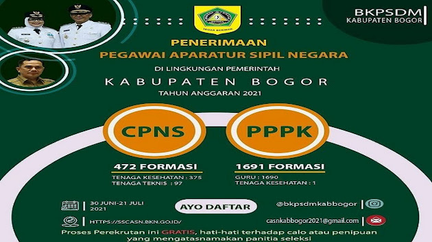 Ini Contoh Format Surat Lamaran dan Surat Pernyataan untuk CPNS 2021 Kabupaten Bogor, Jawa Barat, Cek Juga Formasi Lengkapnya