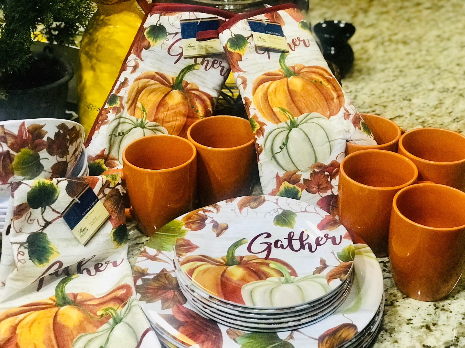 Image: A mini haul of all the things Tangie bell bought for a dollar for Fall decorations. Seen first on Bits and Babbles Blog