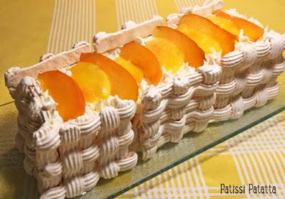 pavlova, meringue, abricots, nectarines, chantilly, tutoriel photos, patissi-patatta