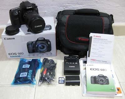 kelengkapan box kamera digital baru