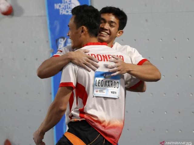 Catat waktu 5,329 detik, Atlet Indonesia pegang rekor Dunia, Veddriq raih medali Emas di Piala Dunia Panjat Tebing 2021