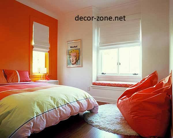 tangerine bedroom paint color ideas