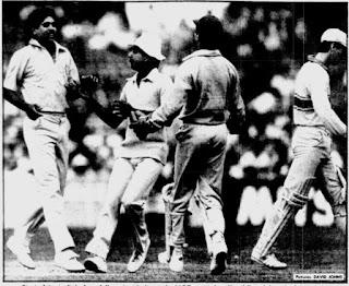 Australia vs India 9th Match Benson & Hedges World Championship of Cricket 1985