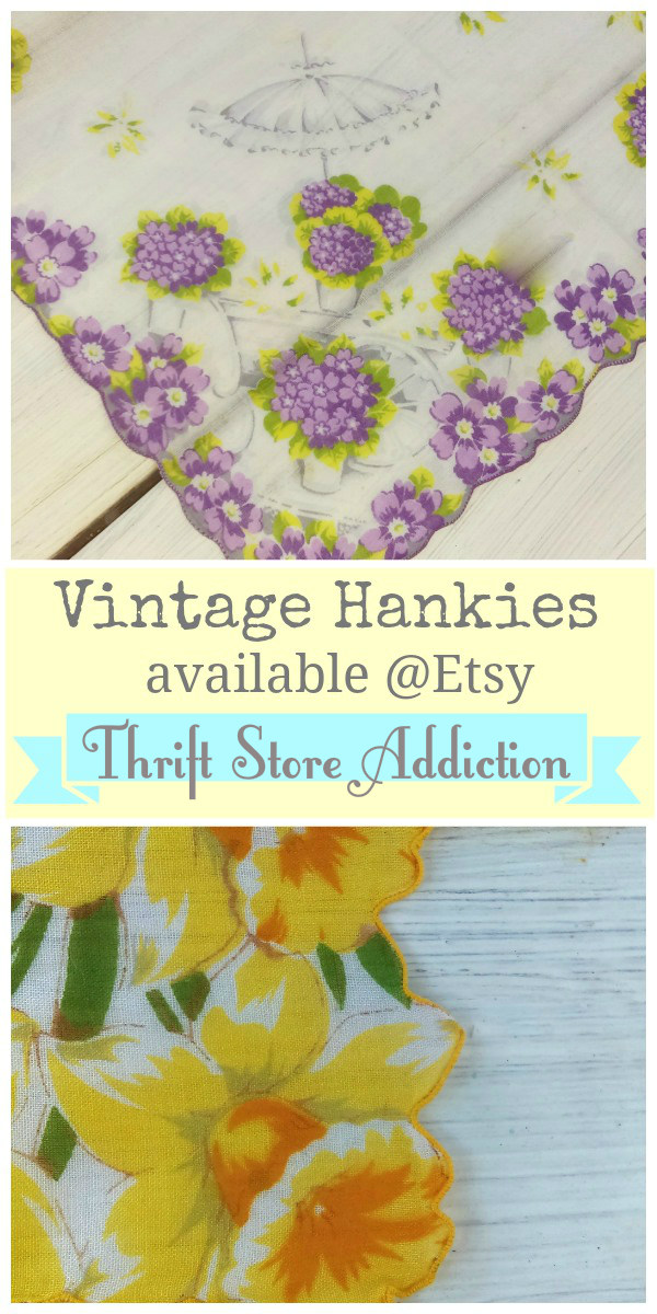 Heavenly Hankies etsy thrift store addiction