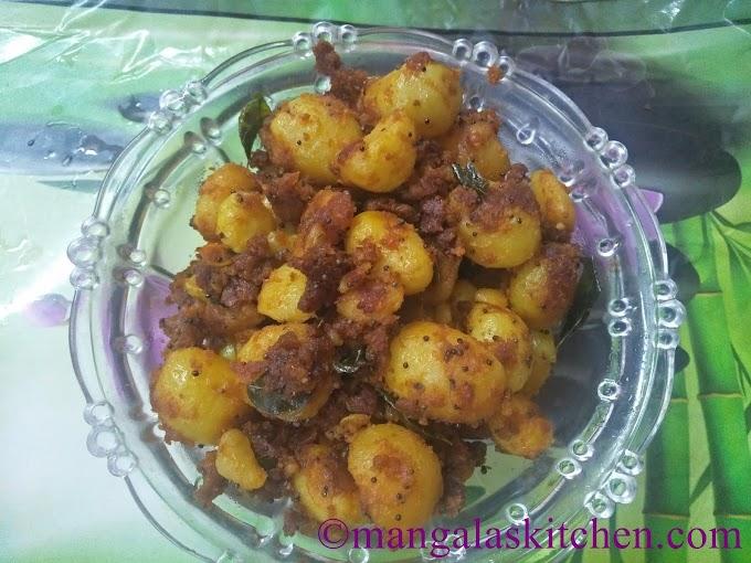Chettinad Kutti Urulai Kizhangu Varuval | Baby Potato Roast | Lunch Side dish Recipe