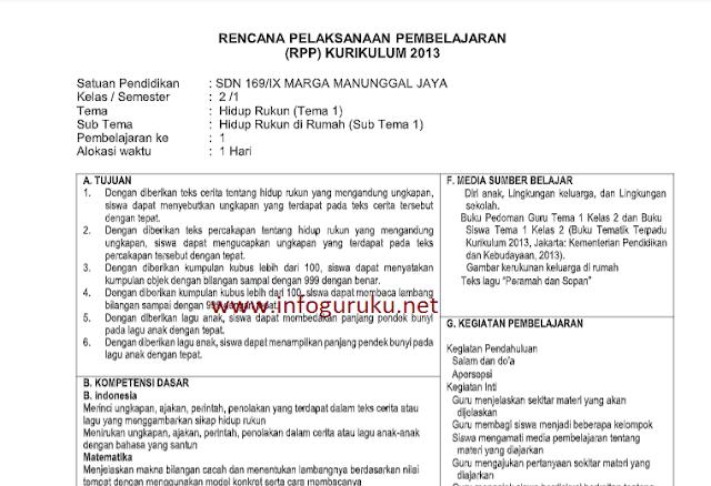 Download Contoh Rpp 1 Lembar Berdasarkan Surat Edaran Bernomor 14 Tahun 2019 Semua Jenjang Infoguruku