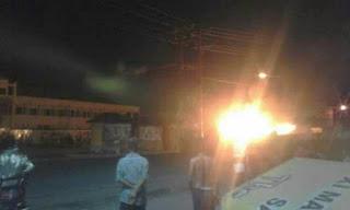 Tiga Kios Pasar di Pasar Indralaya Hangus Terbakar