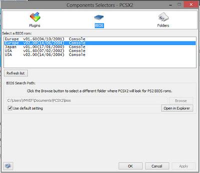 mengatur bios PCSX2 Full Speed Agar Tidak Lag
