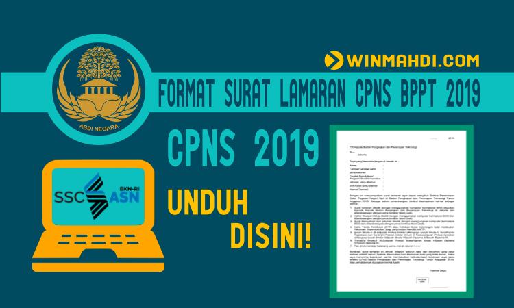 FORMAT SURAT LAMARAN CPNS BPPT 2019