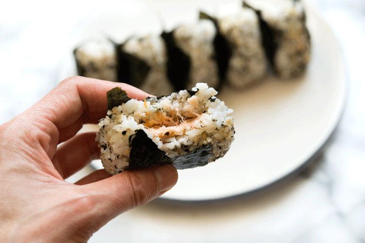 Smoked Salmon Onigiri - WILD GREENS & SARDINES