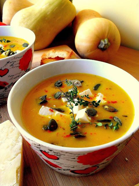 Kremowa zupa z dyni piżmowej