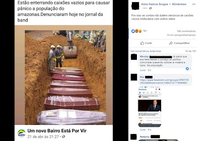 Fake News: É falso que caixões vazios estão sendo enterrados no Amazonas
