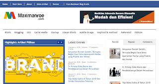 Blog dengan pendapatan terbesar dan tertinggi di Indonesia