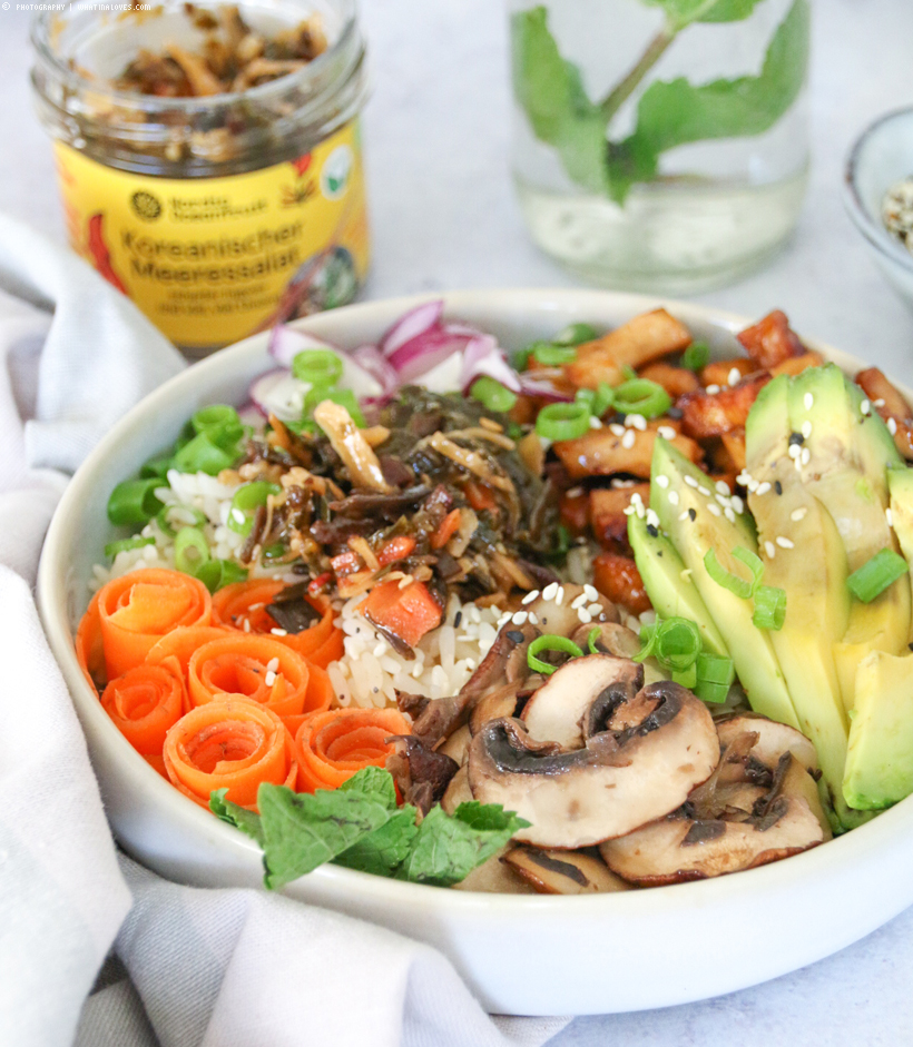 sommerliche Tofu-Bowl-Inspiration