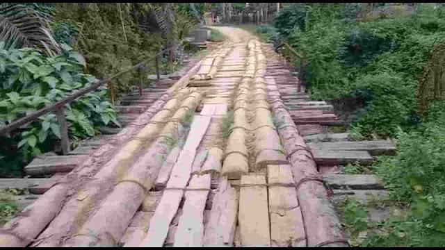 Jembatan Seuneumbok Benteng,Kec Banda Alam Siap Jemput Korban Mati