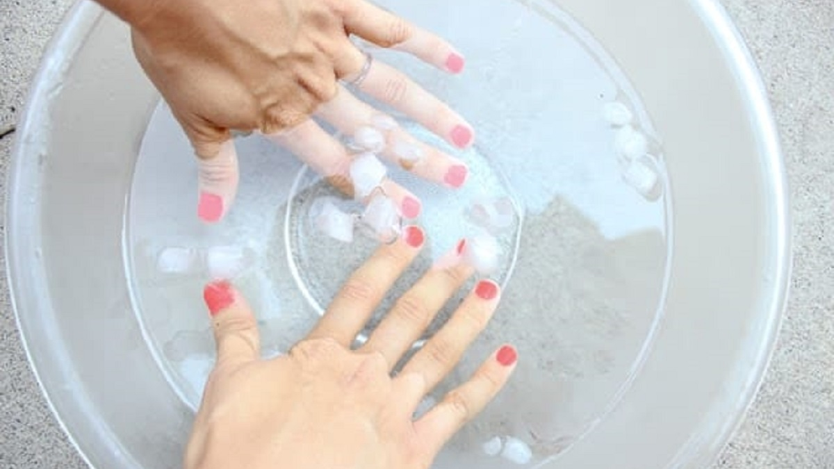 Soak Your Nails in Ice Water