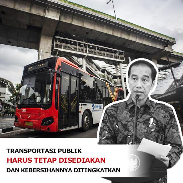Transportasi publik harus tetap tersedia