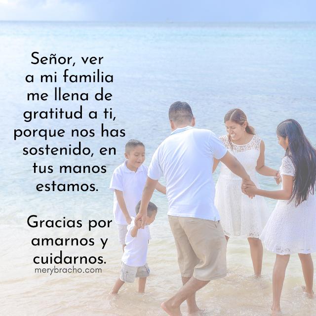oración corta de acción de gracias por la familia